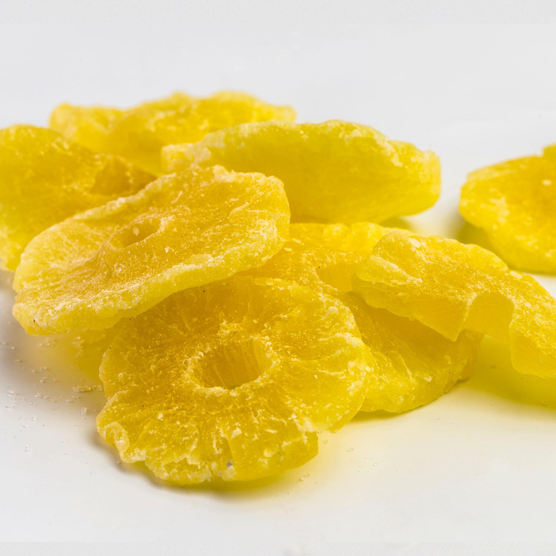 Aszalt, cukrozott ananász